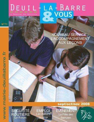 n°71 - Septembre / Novembre 2008 - Deuil-la-Barre