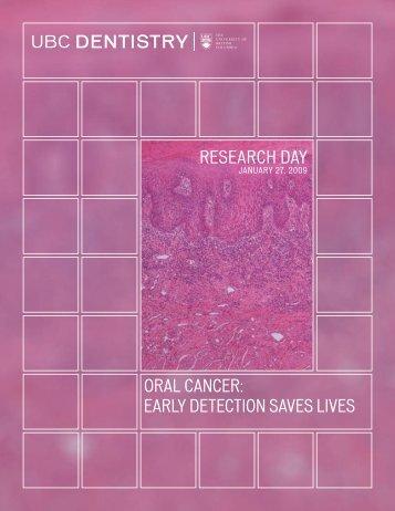 Program Booklet—Research Day 2009 - UBC Dentistry - University ...