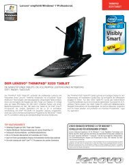 Der Lenovo® ThinkPaD® X220 TabLeT - Lenovo Partner Network