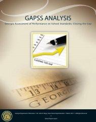 GAPSS ANALYSIS - Georgia Department of Education