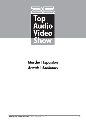 Marche I Espositori Brands I Exhibitors - Top Audio