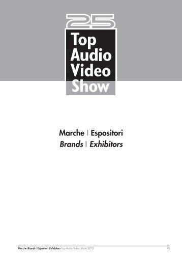 Marche I Espositori Brands I Exhibitors - Top Audio