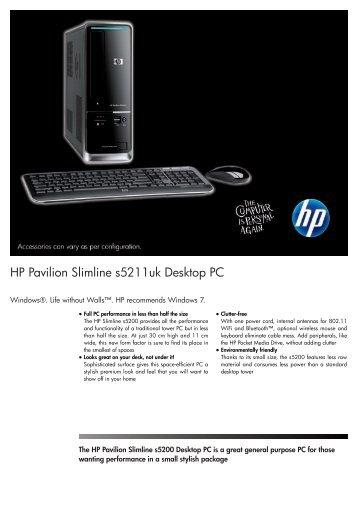 PSG Consumer 3C09 HP Desktop Datasheet - Forestals