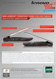 ein echtes arbeitstier das lenovo® thinkpad® edge e325 notebook