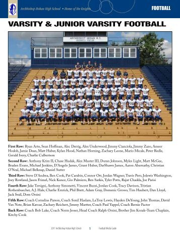 varsity & Junior varsity football - Archbishop Hoban High School