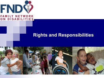 Rights and Responsibilities - The Family Network on Disabilities of ...