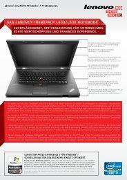 das lenovo® thinkpad® l430/l530 notebook - Lenovo Partner Network
