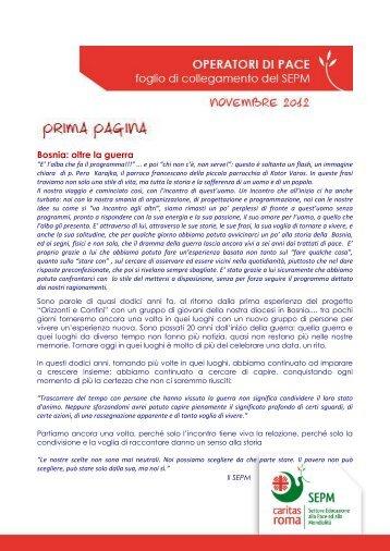 novembre 2012 - Caritas Roma