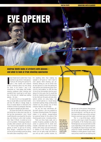 Issue 63 Shooting in Glasses - Perris Archery