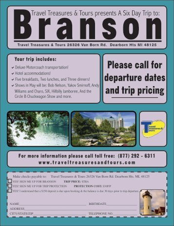 Branson, MO - Travel Treasures & Tours