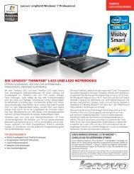 DIE LENOVO® THINKPAD® L420 UND L520 NOTEBOOKS
