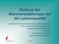Physische Befindlichkeit - Gesellschaft Nierentransplantierter und ...