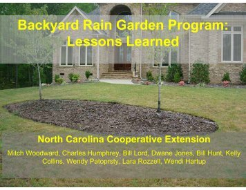 Backyard Rain Garden Program: Lessons Learned - National Water ...