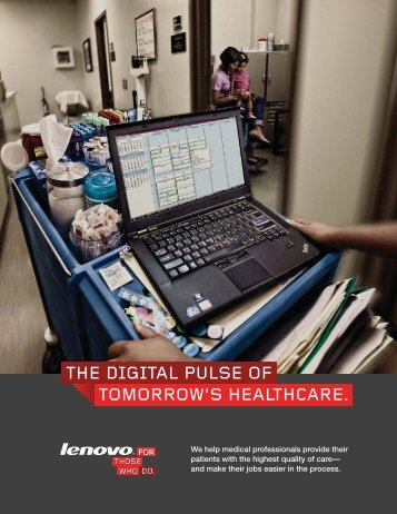 the digital pulse of tomorrow's healthcare. - Lenovo Partner Network