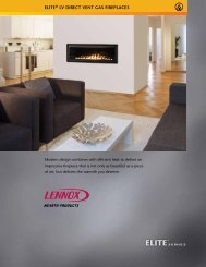 ELITE® LV DIRECT VENT GAS FIREPLACES - Excel Climatisation