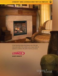 symmetry™ series louverless direct-vent gas fireplaces