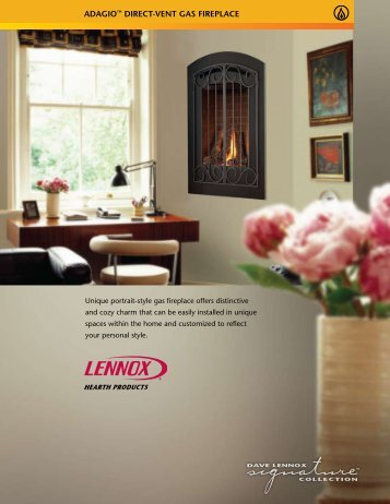 ADAGIO™ DIRECT-VENT GAS FIREPLACE - Classic Pool and Spa