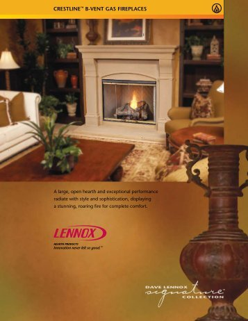 CReSTLINe™ B-veNT gAS FIRePLACeS - Classic Pool and Spa