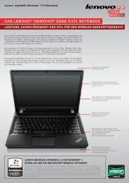 das lenovo® thinkpad® edge e335 notebook - Lenovo Partner ...