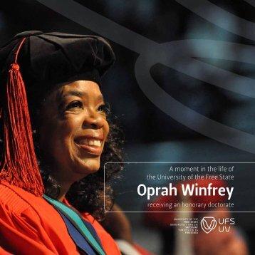 Oprah Winfrey - University of the Free State