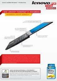 business leicht gemacht das lenovo® thinkpad® x1 notebook