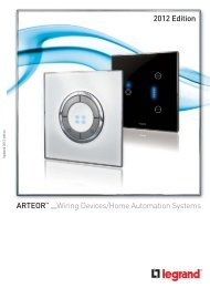 Arteor : Wiring Devices/Home Automation Systems - The global ...