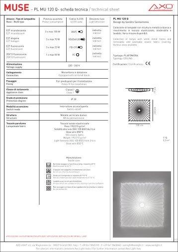 MUSE- PL MU 120 Q- scheda tecnica / technical sheet - Axo Light