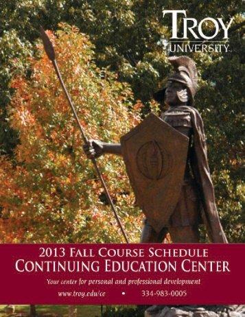 Fall 2013 Schedule - Troy University