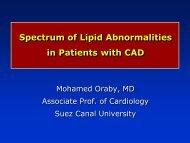 Spectrum of Lipid Abnormalities in Patients with CAD