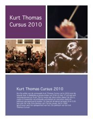 Kurt Thomas Cursus 2010 - Koor & Stem
