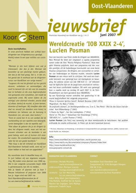 Wereldcreatie 'IOB XXIX 2-4', Lucien Posman - Koor & Stem