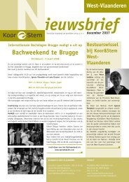 West-Vlaanderen - Koor & Stem