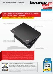daS LenoVo® thinkPad® X121e noteBook mit inteL® technoLogie