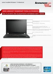 DAS LENOVO® THINKPAD® T430u NOTEBOOK - Lenovo Partner ...