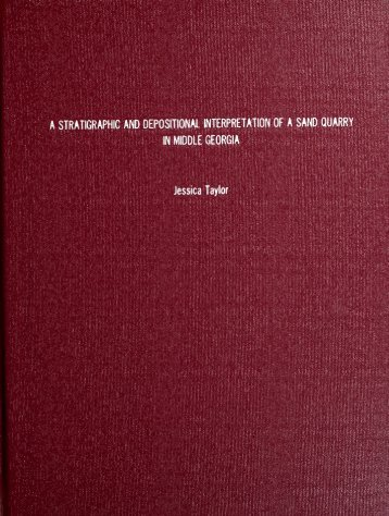 A Stratigraphic and Depositional Interpretation of a Sand Quarry in ...