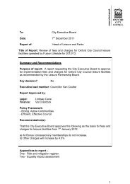 Leisure Fees and Charges 2012/13 PDF 201 KB - Oxford City Council