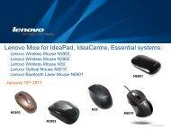 Lenovo Mice For IdeaPad, IdeaCentre ... - Lenovo Partner Network