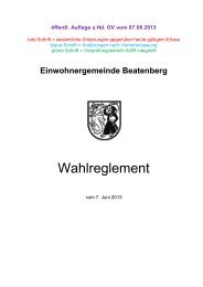 Wahlreglement - Beatenberg