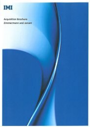 Click here to view Z&J acquisition brochure - IMI plc
