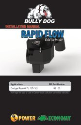 RFI COLD AIR INTAKE INSTALLATION MANUAL