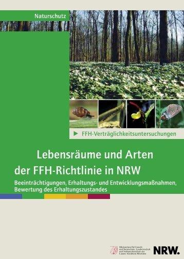 Lebensräume und Arten der FFH-Richtlinie in NRW