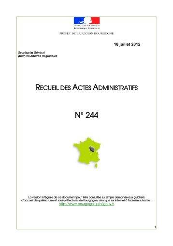 RAA 244 - Préfecture de la Côte-d'Or