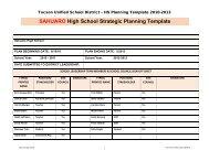 SAHUARO High School Strategic Planning Template