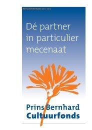 Meerjarenbeleidsplan - Prins Bernhard Cultuurfonds