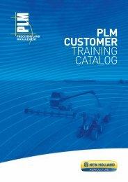 PLM CUSTOMER TRAINING CATALOG - New Holland