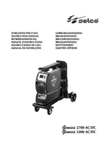 Genesis 2700 AC/DC Genesis 3200 AC/DC - STS Schweißtechnik ...