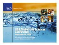 UBS Life Sciences Conference 2005 - Pall Corporation (PLL)