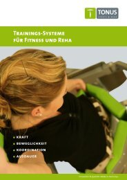 Trainings-Systeme für Fitness und Reha - TONUS sports & reha