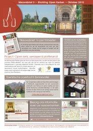 Nieuwsbrief 3 - oktober 2010 - Open kerken