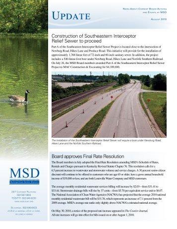 Update Newsletter – August 2010 - MSD